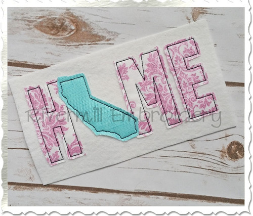 Raggy Applique California Home Machine Embroidery Design