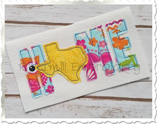 Raggy Applique Texas Home Machine Embroidery Design