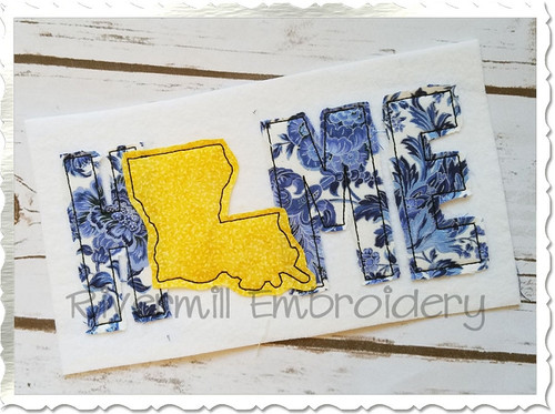 Raggy Applique Louisiana Home Machine Embroidery Design