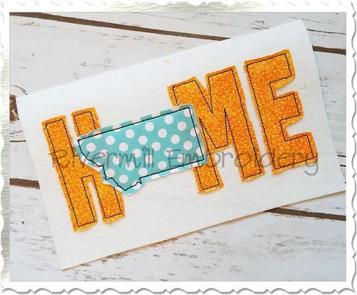 Raggy Applique Montana Home Machine Embroidery Design