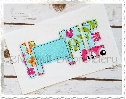Raggy Applique South Dakota Home Machine Embroidery Design