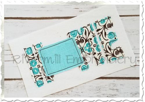 Raggy Applique Colorado Home Machine Embroidery Design