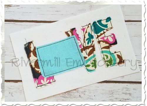Raggy Applique Colorado Love Machine Embroidery Design