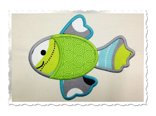 Applique Fish Machine Embroidery Design