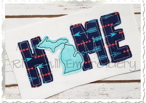 Raggy Applique Michigan Home Machine Embroidery Design