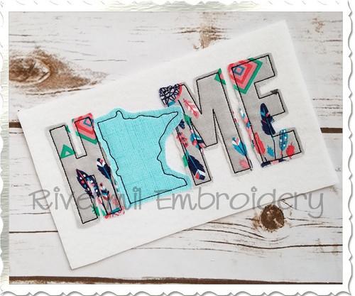 Raggy Applique Minnesota Home Machine Embroidery Design