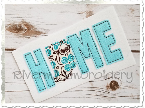Raggy Applique Indiana Home Machine Embroidery Design