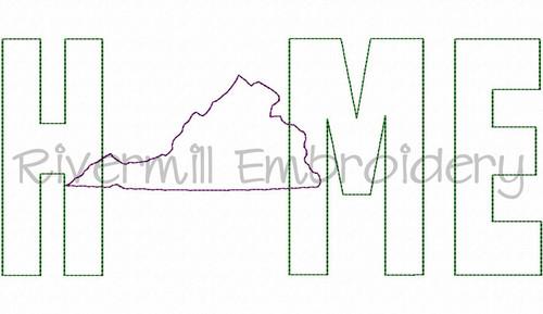 Raggy Applique Virginia Home Machine Embroidery Design