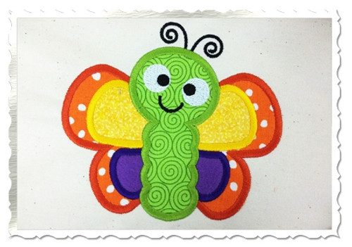 Applique Butterfly Machine Embroidery Design