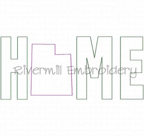 Raggy Applique Utah Home Machine Embroidery Design