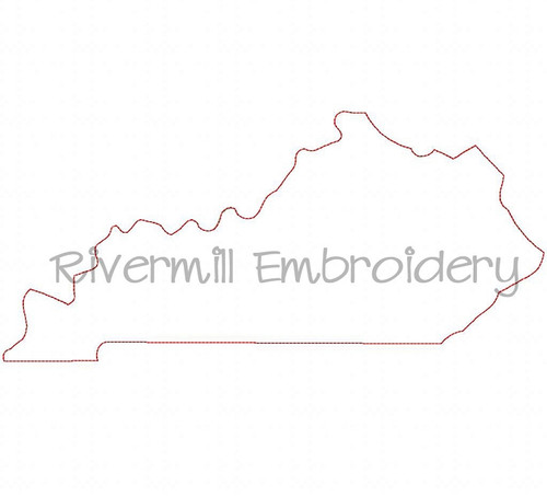 Large Raggy Applique State of Kentucky Machine Embroidery Design