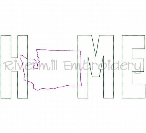 Raggy Applique Washington Home Machine Embroidery Design