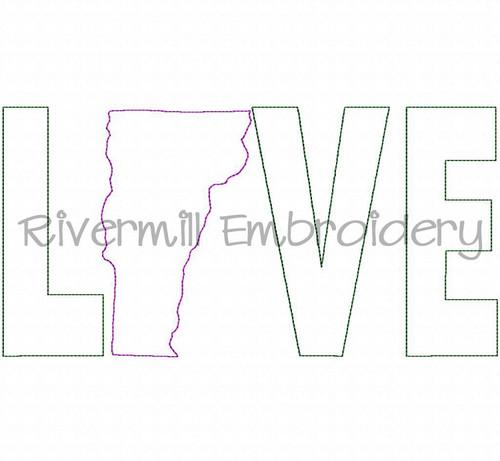 Raggy Applique Vermont Love Machine Embroidery Design