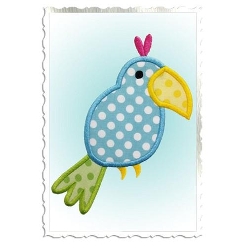 Parrot Applique Machine Embroidery Design
