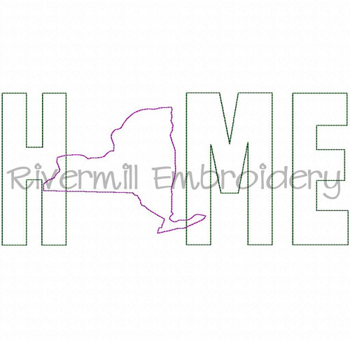 Raggy Applique New York Home Machine Embroidery Design