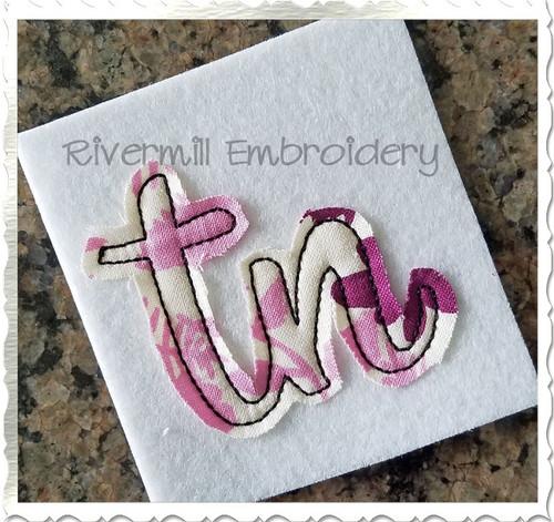 "Small Raggy Applique Tennessee ""tn"" Machine Embroidery Design"