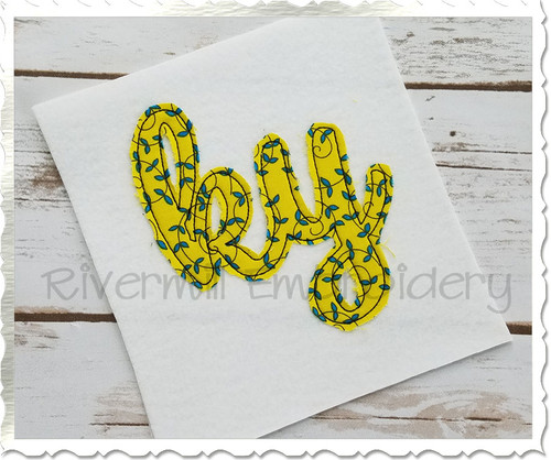 "Raggy Applique Kentucky ""ky"" Machine Embroidery Design"