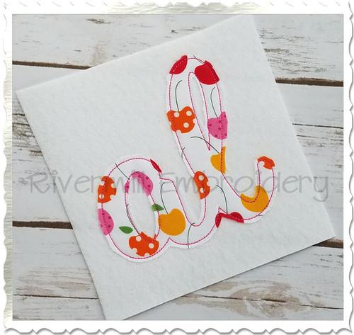 "Raggy Applique Alabama ""al"" Machine Embroidery Design"