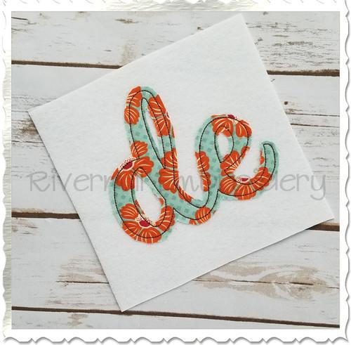 "Raggy Applique Delaware ""de"" Machine Embroidery Design"