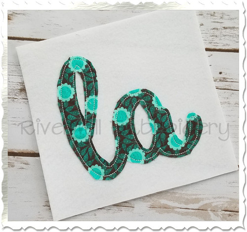 "Raggy Applique Louisiana ""la"" Machine Embroidery Design"