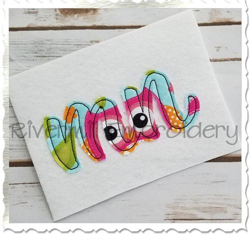 "Raggy Applique Minnesota ""mn"" Machine Embroidery Design"