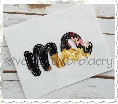 """Raggy Applique Missouri """"mo"""" Machine Embroidery Design"""