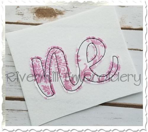 "Raggy Applique Nebraska ""ne"" Machine Embroidery Design"
