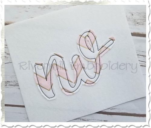 "Raggy Applique Nevada ""nv"" Machine Embroidery Design"