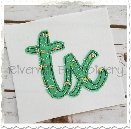 """Raggy Applique Texas """"tx"""" Machine Embroidery Design"""