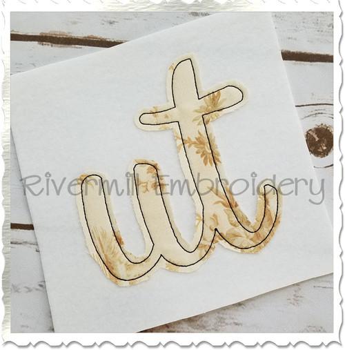 """Raggy Applique Utah """"ut"""" Machine Embroidery Design"""