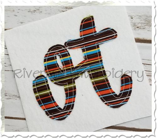 "Raggy Applique Vermont ""vt"" Machine Embroidery Design"