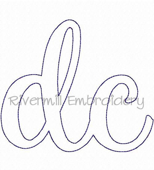 "Raggy Applique Washington DC ""dc"" Machine Embroidery Design"