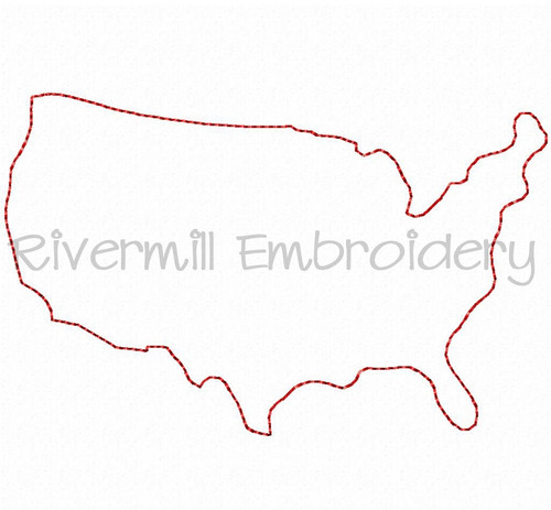 Raggy Applique United States Machine Embroidery Design