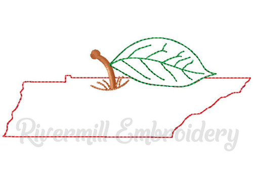 Raggy Applique Tennessee as an Apple Machine Embroidery Design