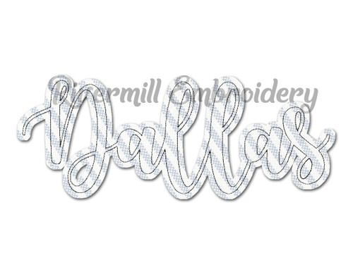 Raggy Applique Dallas TX Machine Embroidery Design