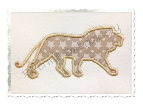Lion Silhouette Applique Machine Embroidery Design