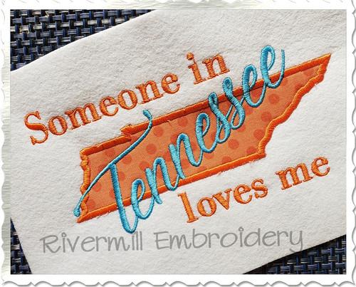 Someone in TN Loves Me Applique Machine Embroidery Design