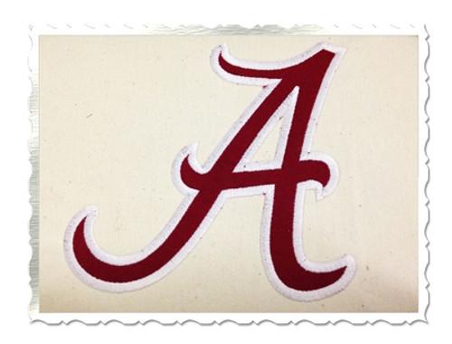 """A"" Applique Machine Embroidery Design"