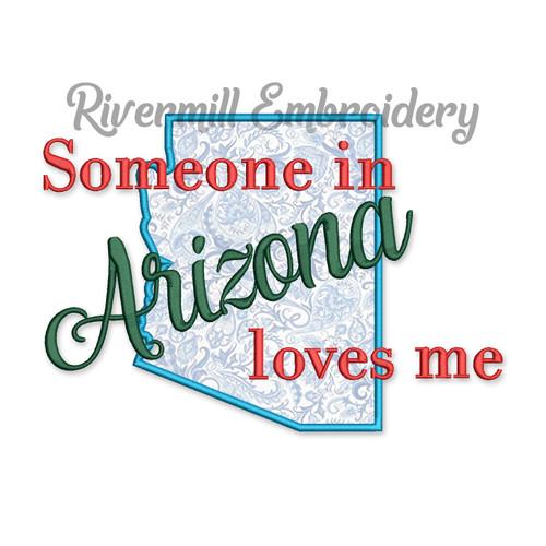 Someone in Arizona Loves Me Applique Machine Embroidery Design