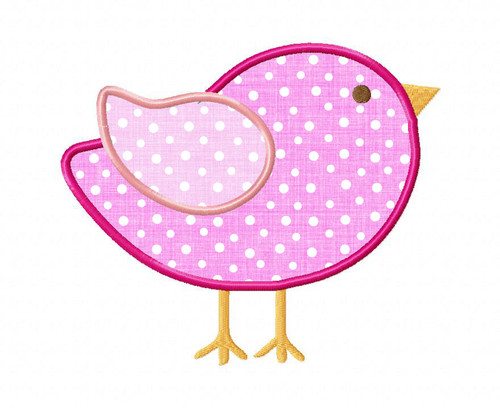 Little Bird Applique Machine Embroidery Design
