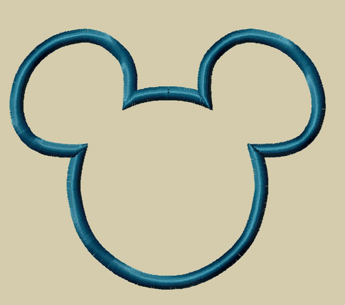 Mouse Ears Applique Machine Embroidery Design