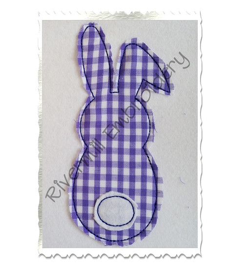 Raggy Bunny With A Tail Applique Machine Embroidery Design