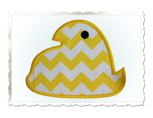 Marshmallow Chick Applique Machine Embroidery Design