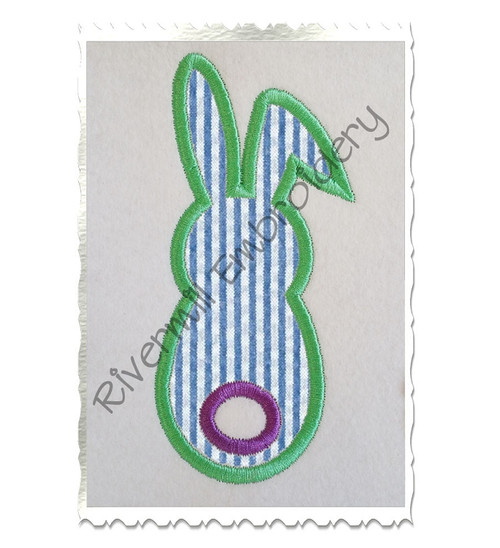 Bunny With A Tail Applique Machine Embroidery Design