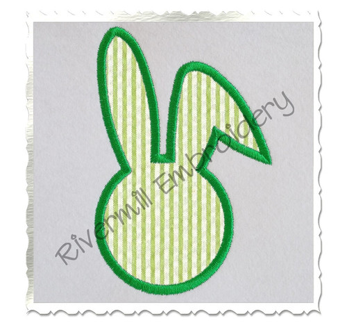 Bunny Head Applique Machine Embroidery Design