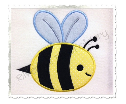 Applique Bee Machine Embroidery Design