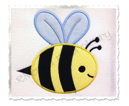 Applique Bee Machine Embroidery Design
