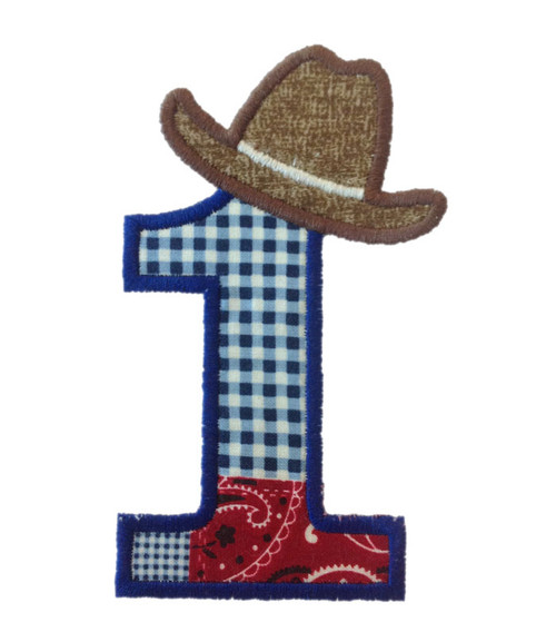 Cowboy Hat Applique Numbers Machine Embroidery Designs