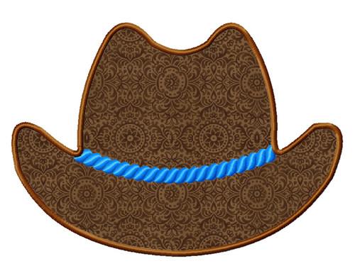 Cowboy Hat Applique Machine Embroidery Design