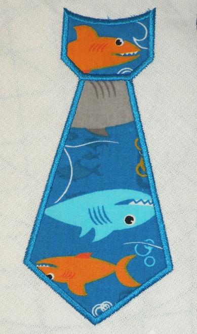 Neck Tie Applique Machine Embroidery Design